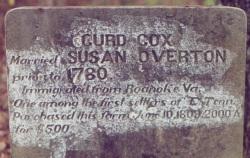 Curd Cox gravesite